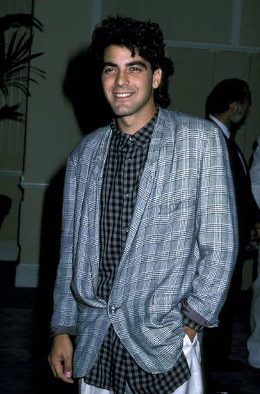 George Clooney in a loose blue suit