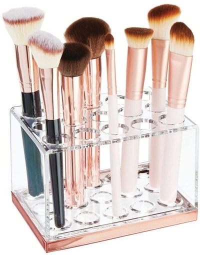 mDesign Plastic Makeup Brush Storage Organizer (15-Slots)