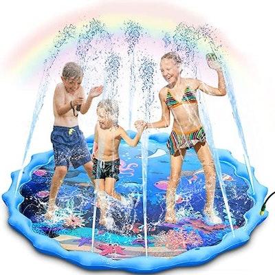 Outdoor Ocean Life Splash Pad and Sprinkler