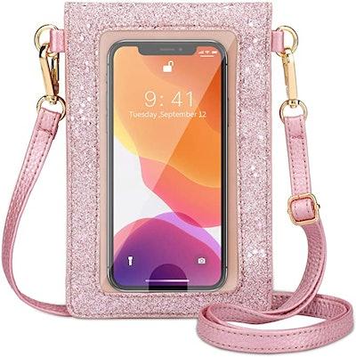 AnsTOP Lightweight Leather Phone Purse