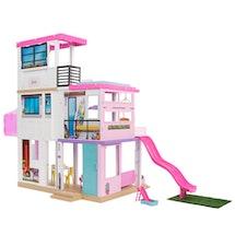The Barbie DreamHouse has a moveable slide.