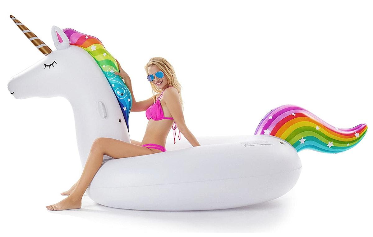 Jasonwell Giant Inflatable Unicorn Pool Float