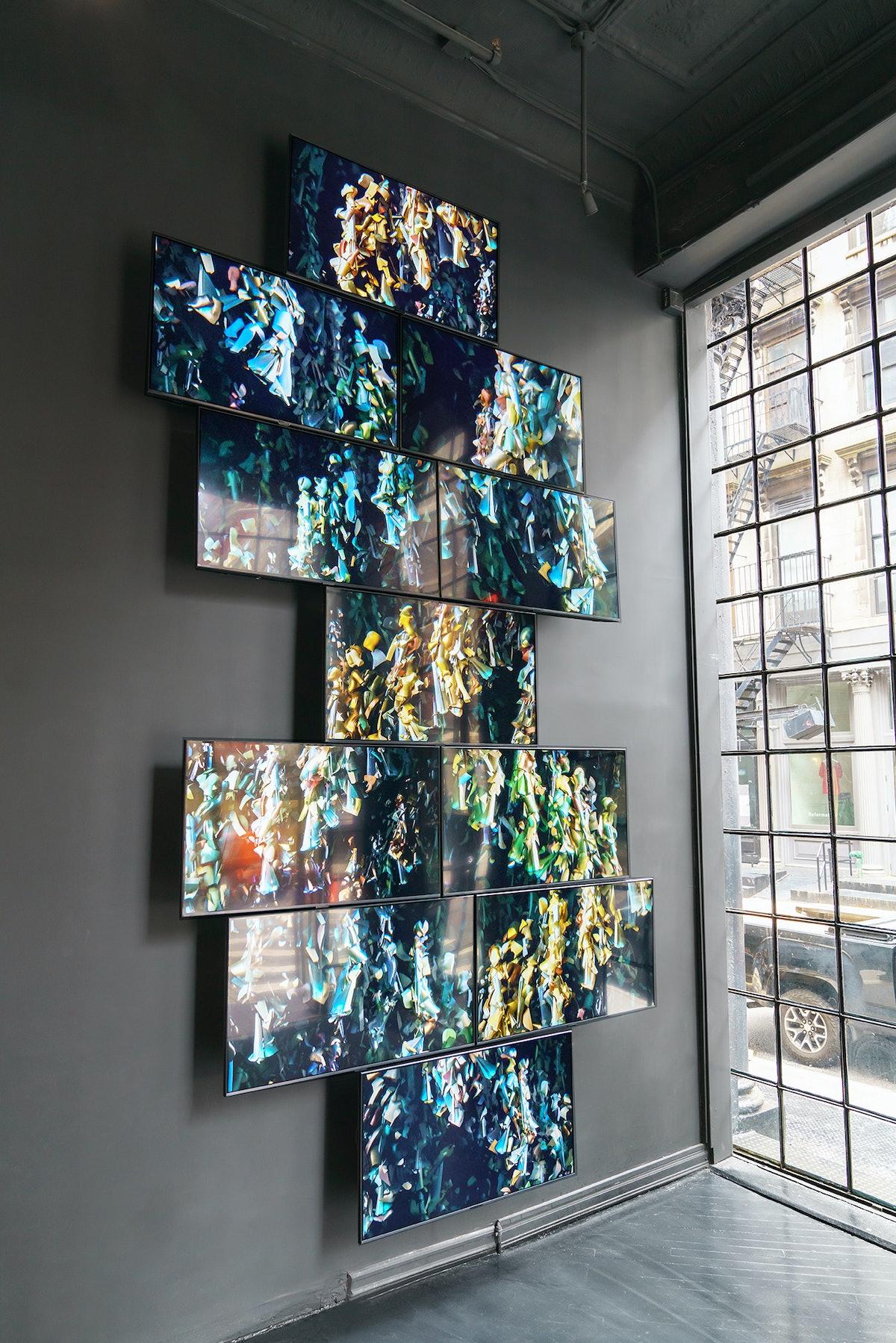 Marco Brambilla's installation for Maison Margiela
