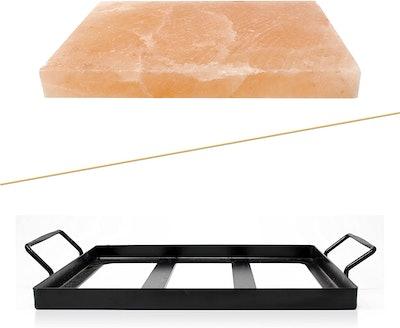 UMAID Natural Himalayan Rock Salt Block Cooking Plate (12 X 8 X 1.5)