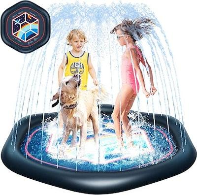 The Galaxy Space Tour Splash Pad With Sprinkler