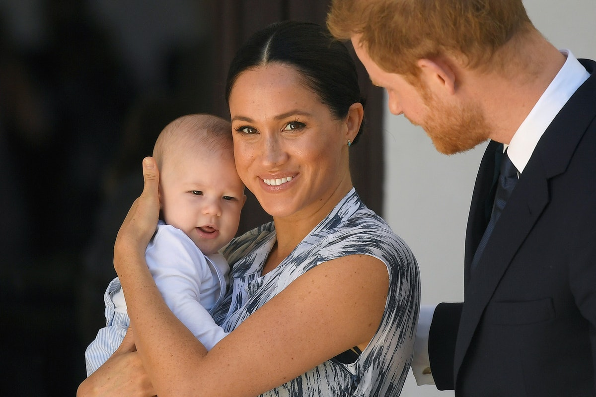Baby Archie with Meghan Markle