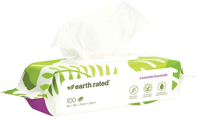 Earth Rated Pet Wipes (100 Count)