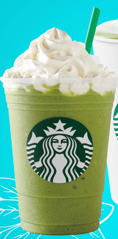 The 'Princess & The Frog' Tiana Frappuccino at Starbucks has a green tea base.