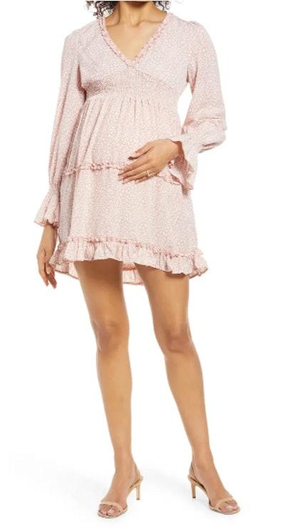 Venice Long Sleeve Maternity Dress