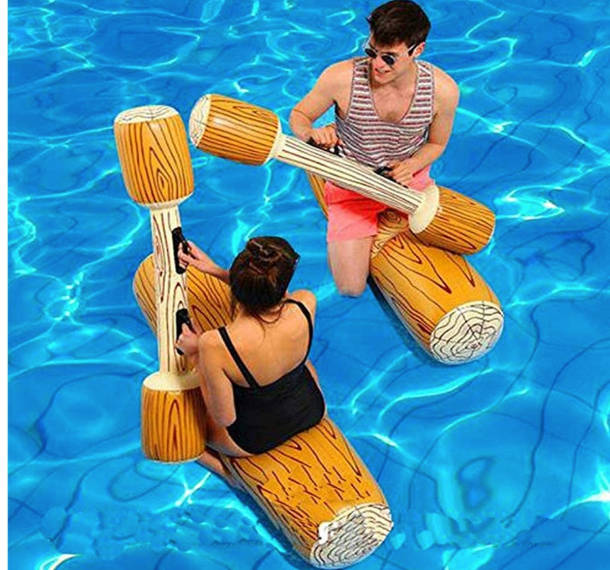 2-Pack Inflatable Floating Row Toys
