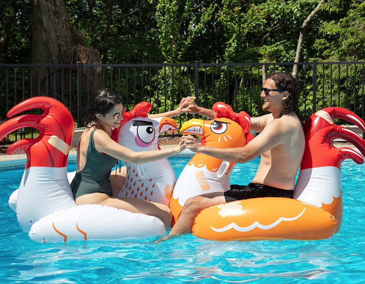 Chicken Fight Inflatable Pool Float Game (Set Of 2)