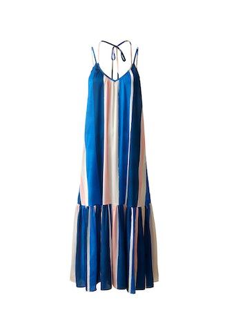 Lacing-Detail Maxi Dress