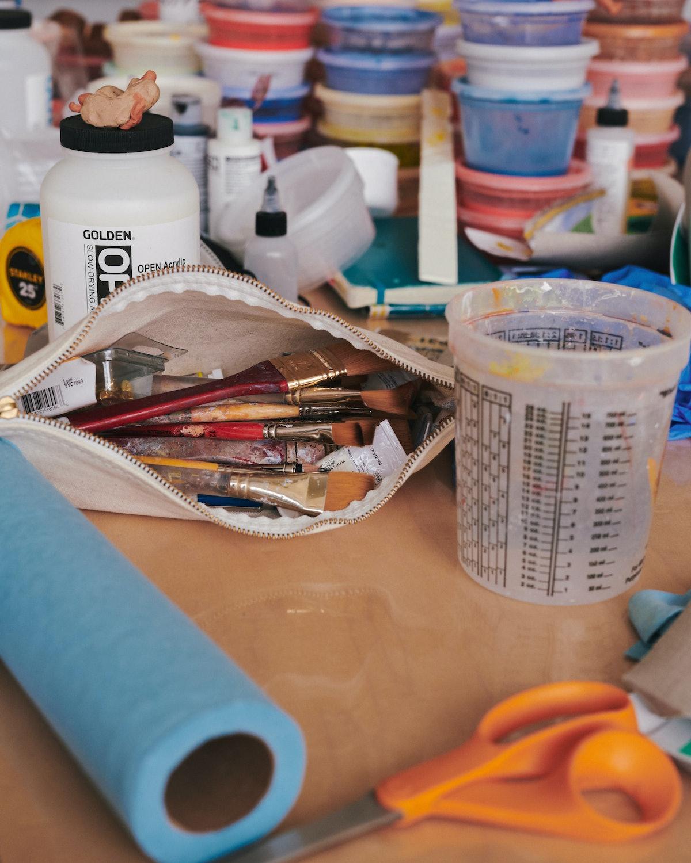Materials inside Ivy Haldeman's studio.