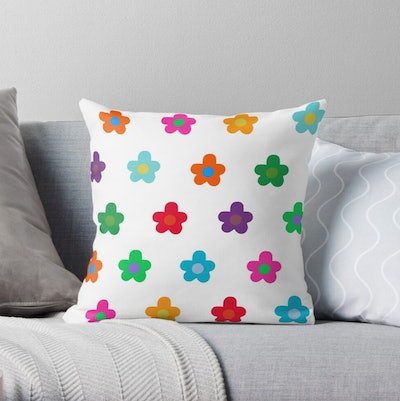 Colourful Flowers Pack Throw Pillow