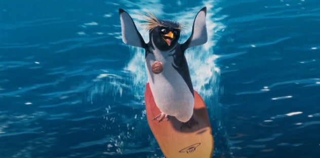 'Surfs Up' is an animated movie about a surfing penguin.