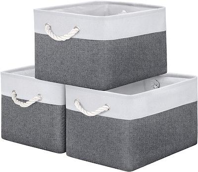 WISELIFE Storage Basket Bins (3-Pack)