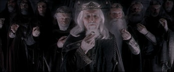 The nine lords of men in Lord of the Rings: Fellowship of the Ring