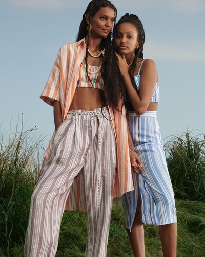 Liya Kebede and her daughter wears items from the Lemlem x H&M collaboration.