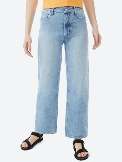 Cropped Wide Straight Jeans