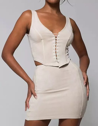 Corset-Style Cami Top and Skirt