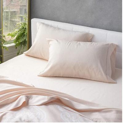 Wellhome Cotton Tencel Sheet, 4-Piece Set