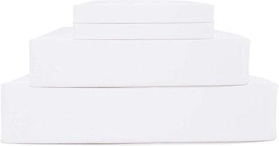 Linen Home 100% Cotton Percale Sheets, 4-Piece Set