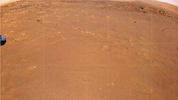 aerial view of mars