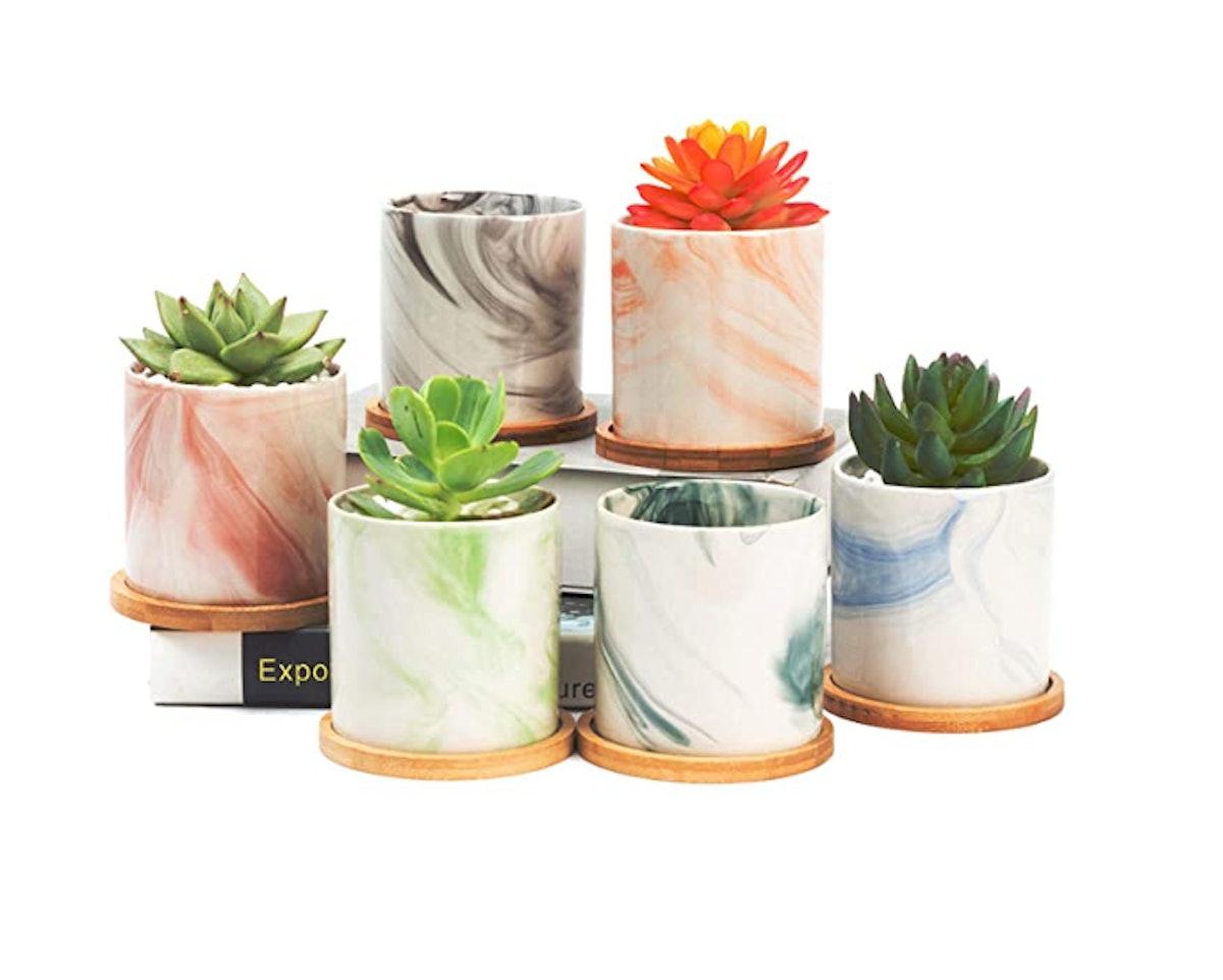 BUYMAX Succulent Plant Pots (6-Pack)
