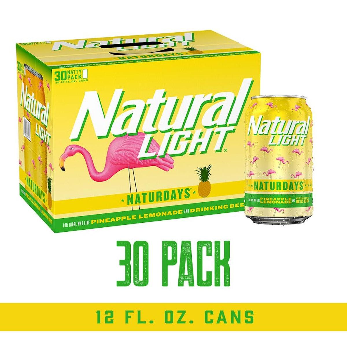 Natural Light Naturdays Pineapple Lemonade Beer 30-Pack
