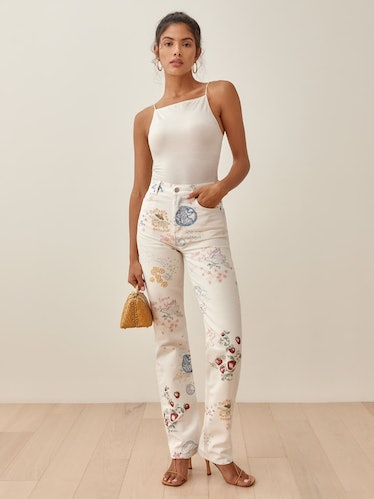Cynthia Doodle High Rise Straight Long Jeans