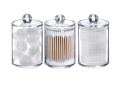Tbestmax Apothecary Jars/Makeup Organizers (3-Pack)