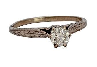 Vintage Edwardian European Cut Diamond Engagement Ring