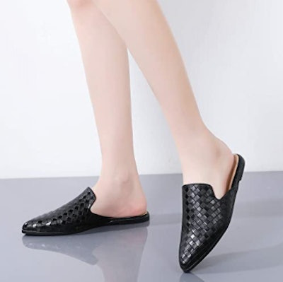 Tilocow Pointed Toe Flat Mules