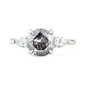 Zara Salt & Pepper Diamond Engagement Ring