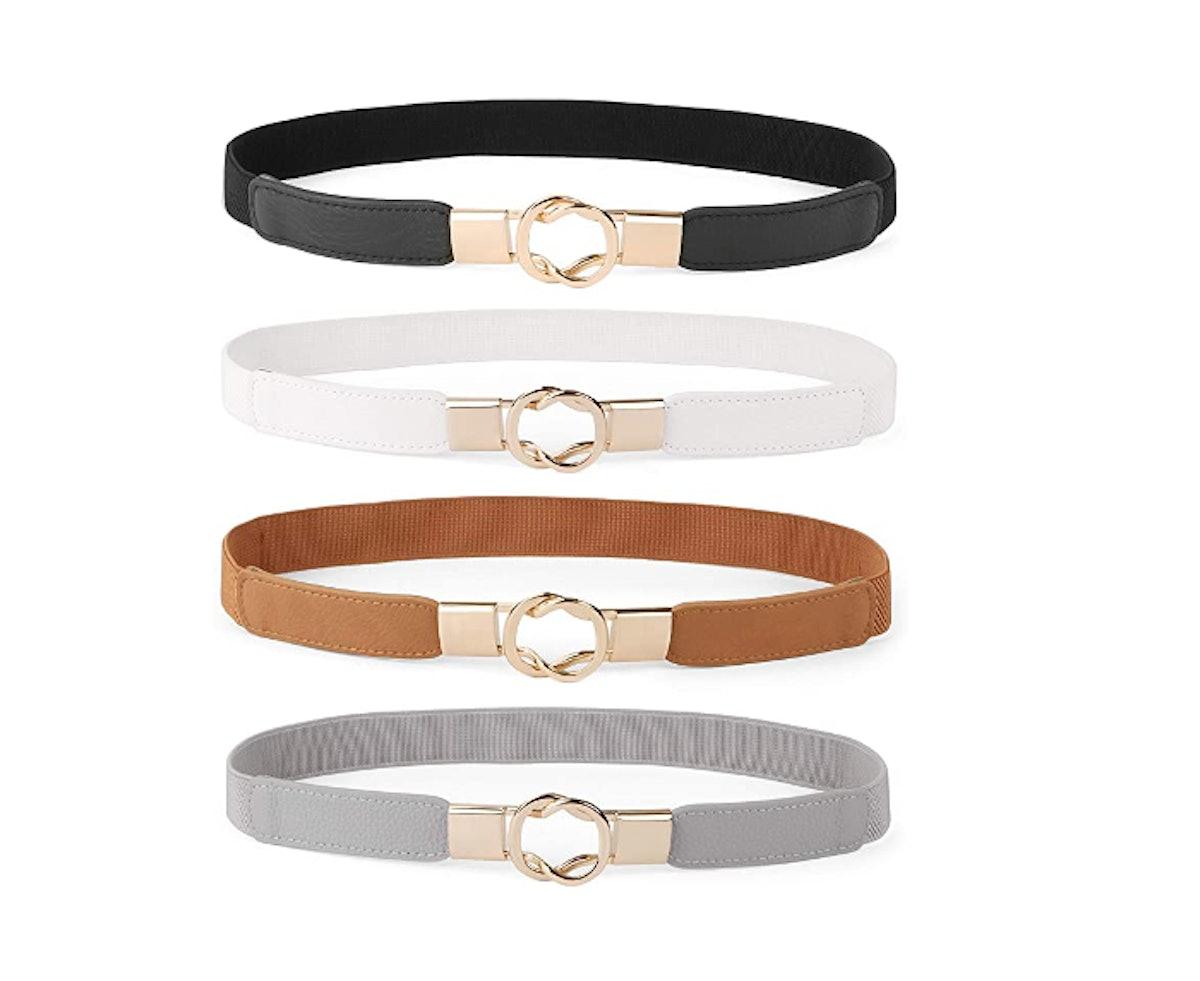 WERFORU Retro Stretch Waist Belt (4-Pack)