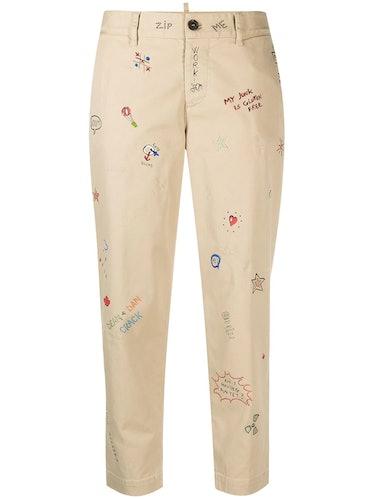 Hockney Doodle Print Jeans