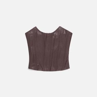 Leia Faux Leather Corset