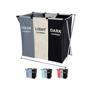 BRIGHTSHOW Sectioned Laundry Sorting Hamper