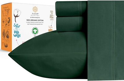 Sleep Mantra 100% Organic Cotton Sheets, 4-Piece Set