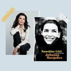 Julianna Margulies and the cover of her book, 'Sunshine Girl.'
