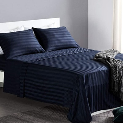 Sleep Zone Striped Bed Sheets, 4-Piece Set