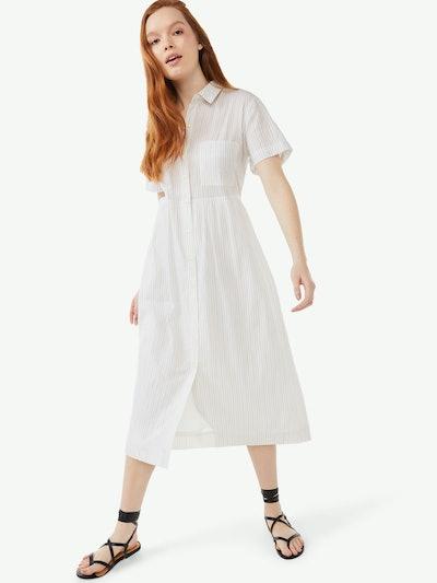 Short Sleeve Maxi Shirt Dress