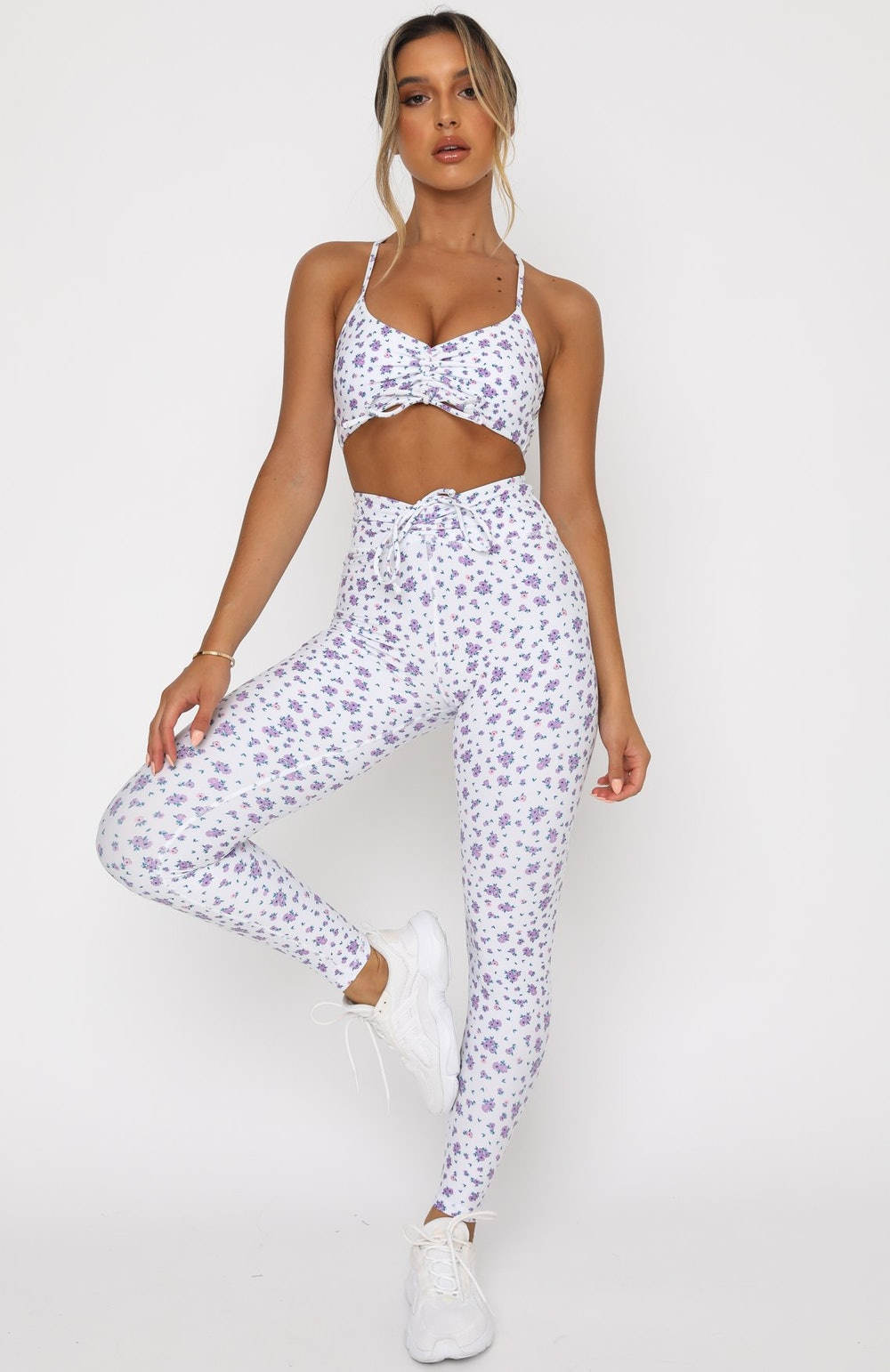 Go With The Flow Leggings in Purple Floral