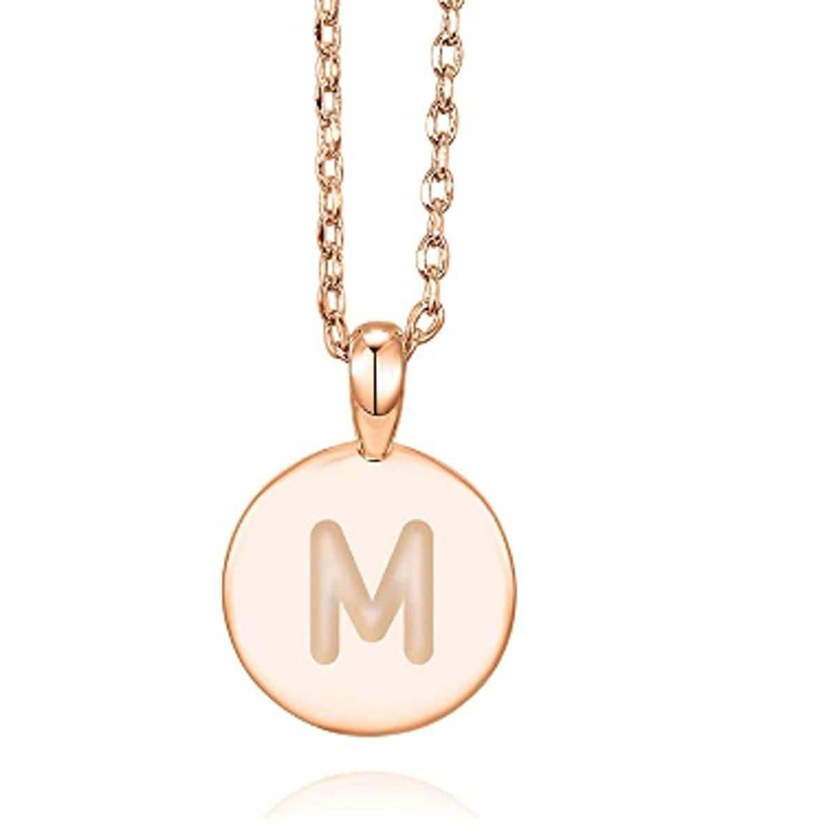 PAVOI Rose Gold Plated Letter Necklace