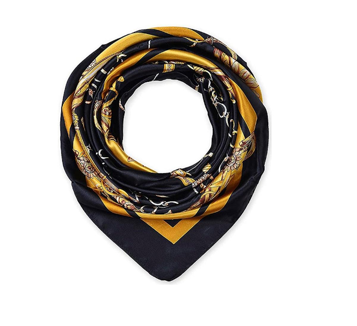 Corciova Square Silk Wrapping Scarf