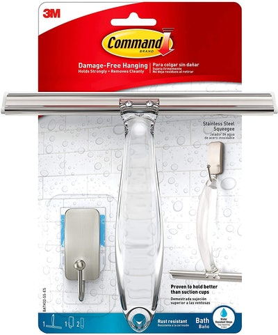 Command Bath Shower Squeegee and Hook