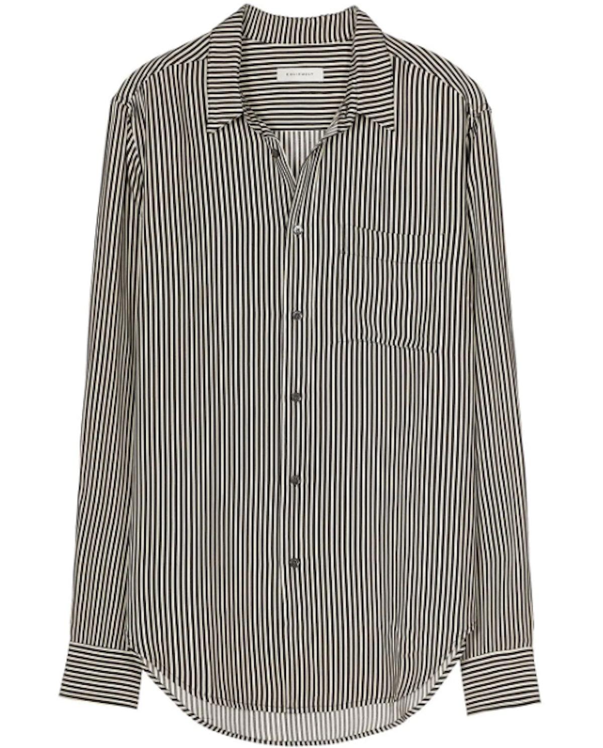Pinstriped Slim Fit Shirt