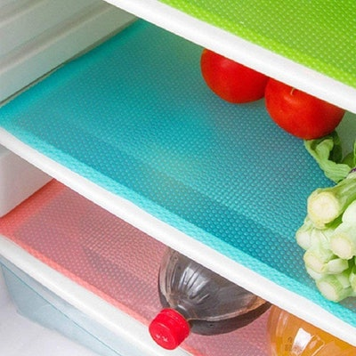 Soqool Refrigerator Shelf Liners (8 Pack)