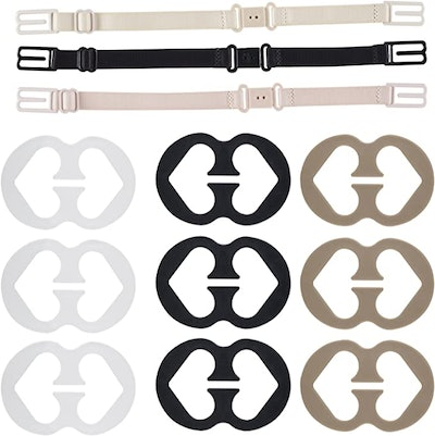 Thsinde Bra Strap Clips & Holders (12-Count)