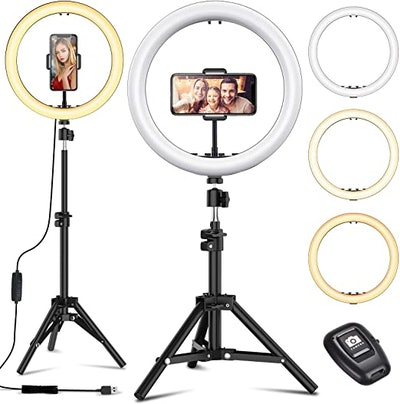 EYONMÉ Selfie Ring Light with Tripod Stand